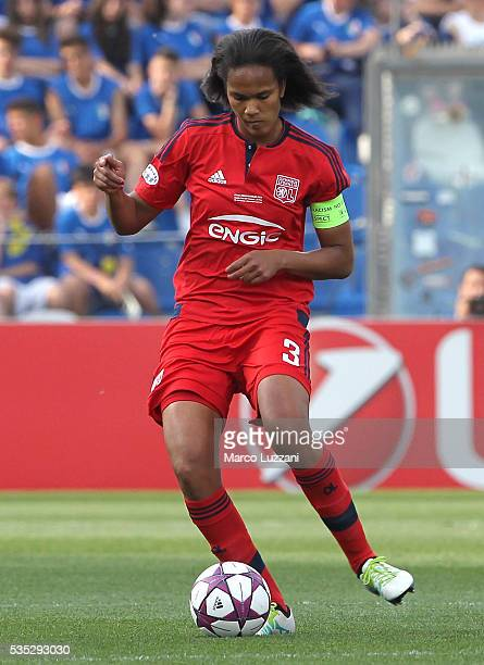 Wendie Renard of Olympique Lyonnais in action during the UEFA Women's Champions League Final VfL Wolfsburg and Olympique Lyonnais between at Mapei...