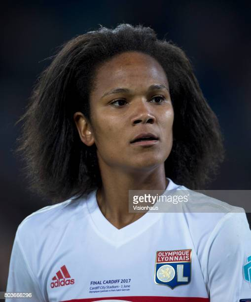 Wendie Renard of Olympique Lyonnais in action during the UEFA Women's Champions League Final between Olympique Lyonnais and Paris St Germain at the...
