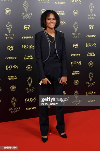 Wendie Renard poses on the red carpet during the Ballon D'Or Ceremony at Theatre Du Chatelet on December 02 2019 in Paris France