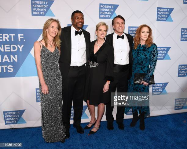 Wendy Abrams, actor Chris Tucker, Kerry Kennedy, Glen Tullman, and J.K. Rowling attend the Robert F. Kennedy Human Rights Hosts 2019 Ripple Of Hope...