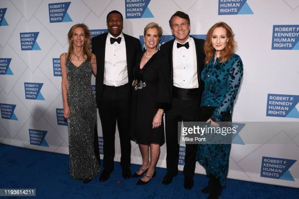 Wendy Abrams actor Chris Tucker Kerry Kennedy Glen Tullman and JK Rowling attend the Robert F Kennedy Human Rights Hosts 2019 Ripple Of Hope Gala...