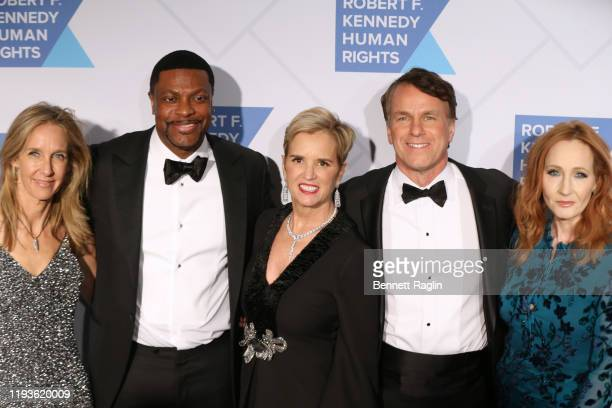 Wendy Abrams Chris Tucker Kerry Kennedy Glen Tullman and JK Rowling attend the Robert F Kennedy Human Rights Hosts 2019 Ripple Of Hope Gala Auction...