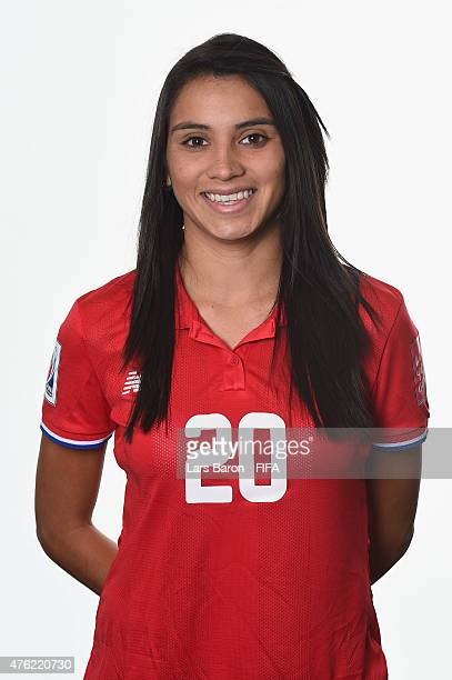 Wendy Acosta of Costa Rica poses during the FIFA Women's World Cup 2015 portrait session at Sheraton Le Centre on June 6 2015 in Montreal Canada