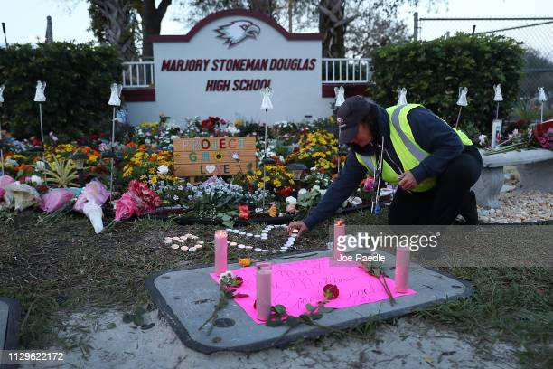 Wendy Behrend a school crossing guard who was on duty one year ago when a shooter opened fire in Marjory Stoneman Douglas High School pays her...