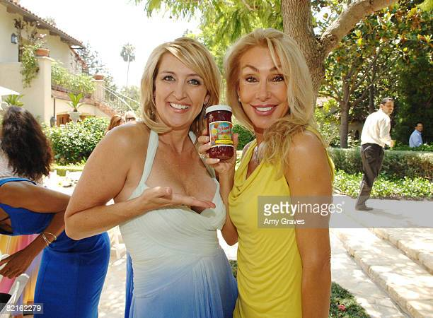 Wendy Burch and Linda Thompson attend The Good News Foundation event on August 2 2008 in Brentwood California