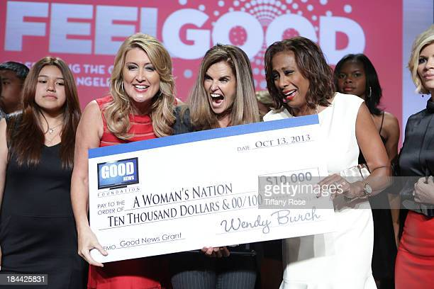 Wendy Burch Maria Shriver and Pat Harvey attends the Good News Foundation's Feel Good event of the year at The Beverly Hilton Hotel on October 13...