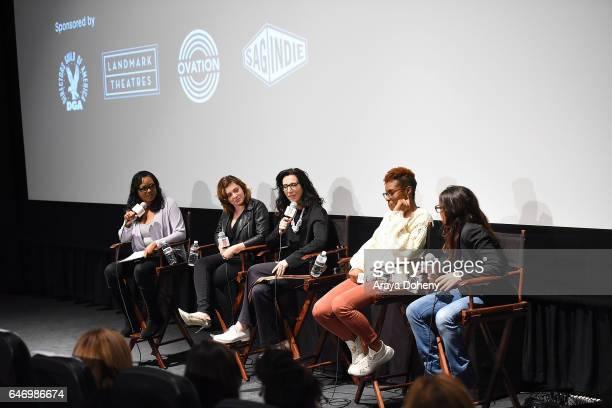 Wendy Calhoun Rachel Bloom Aline Brosh McKenna Issa Rae and Pamela Adlon attend the 16th Annual Film Independent Directors CloseUp Series Auteur TV...
