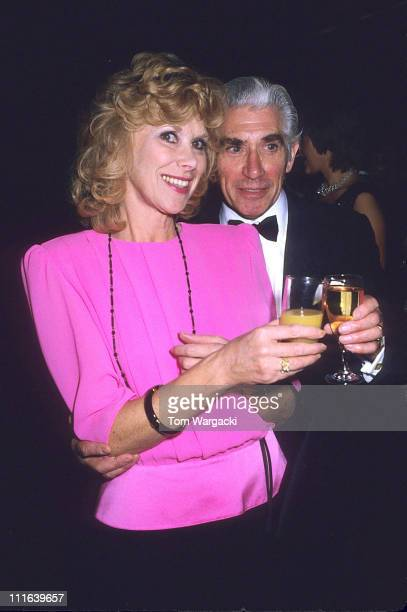 Wendy Craig and Frank Finlay during Wendy Craig and Frank Finlay at the first night party for the play 'Beyond Reasonable Doubt' 1987 in London Great...