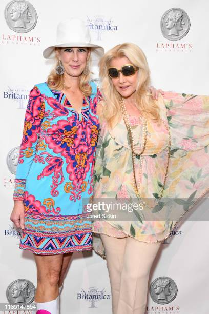Wendy David and Nina Junot attend Lapham's Quarterly Decades Ball 2019 at 583 Park Avenue on March 25 2019 in New York City