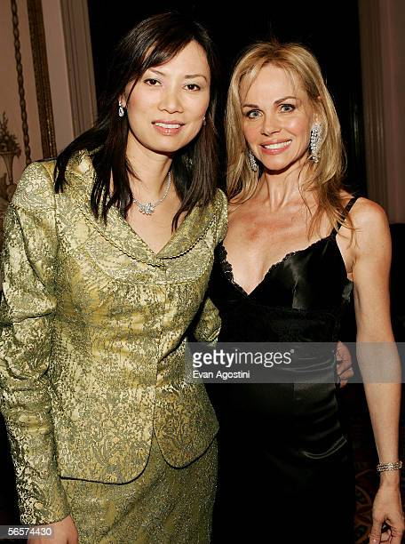 Wendy Deng and Claudia Peltz attend the Simon Weisenthal Center honors Rupert Murdoch ceremony at The Waldorf Astoria on January 11 2006 in New York...