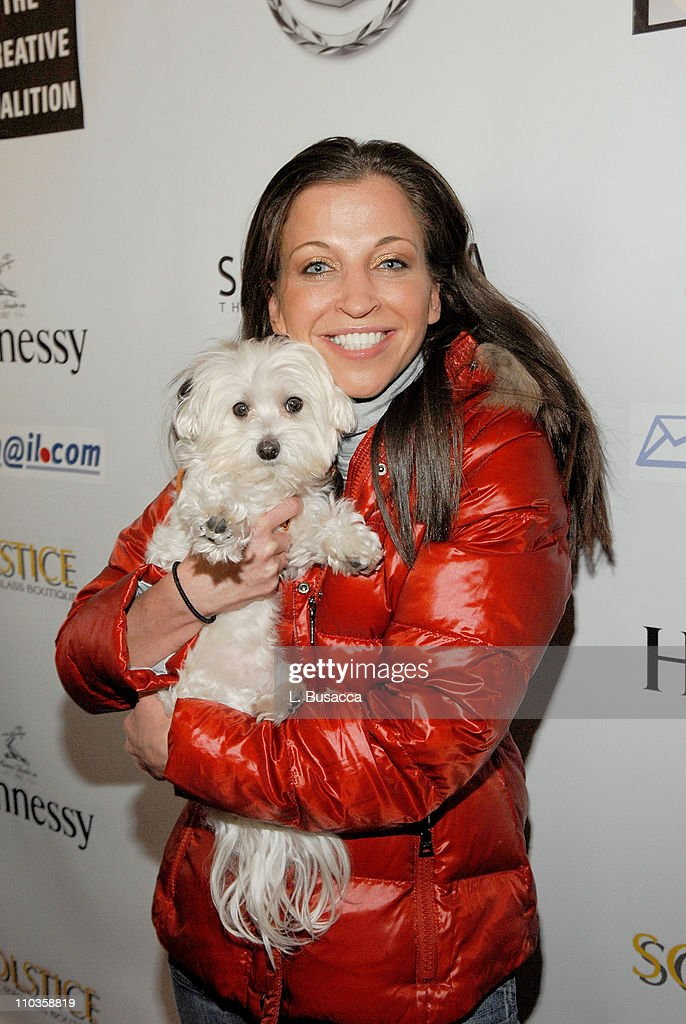 Wendy Diamond and dog Lucky at the Hollywood Life House on January 21, 2008 in Park City, Utah.