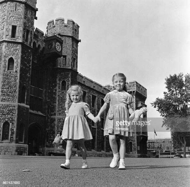 Wendy Dixon and Ruth Mason two girls who live in the Tower of London 2nd July 1954