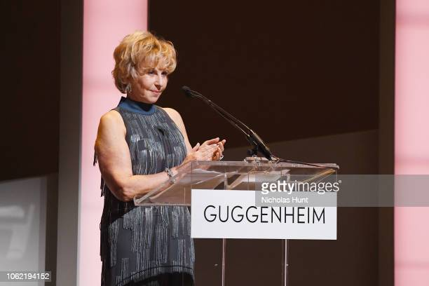 Wendy Fisher speaks onstage during the Guggenheim International Gala Dinner made possible by Dior at Solomon R Guggenheim Museum on November 15 2018...