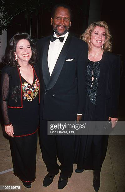 Wendy Goldberg Sidney Poitier and Joanna Shimkus during 10th Carousel of Hope Ball to Benefit Juvenile Diabetes at Beverly Hilton Hotel in Beverly...
