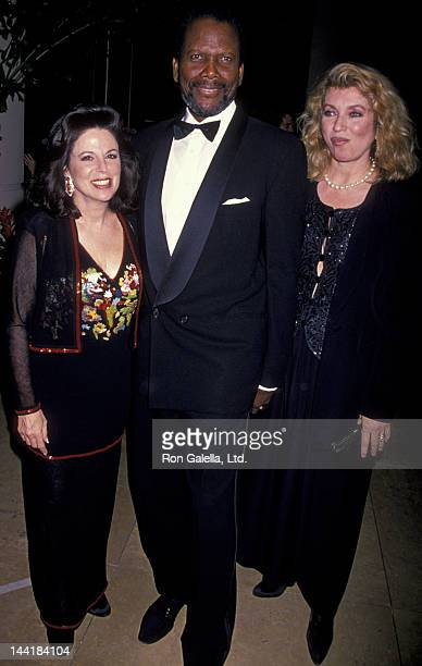 Wendy Goldberg Sidney Poitier and wife Joanna Shimkus attend Carousel of Hope Ball Benefit on October 28 1994 at the Beverly Hilton Hotel in Beverly...