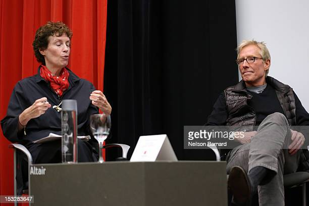Wendy Goodman Design Editor New York Magazine and Jerry Helling President and Creative Director Bernhardt Design speak on stage during the Emerging...