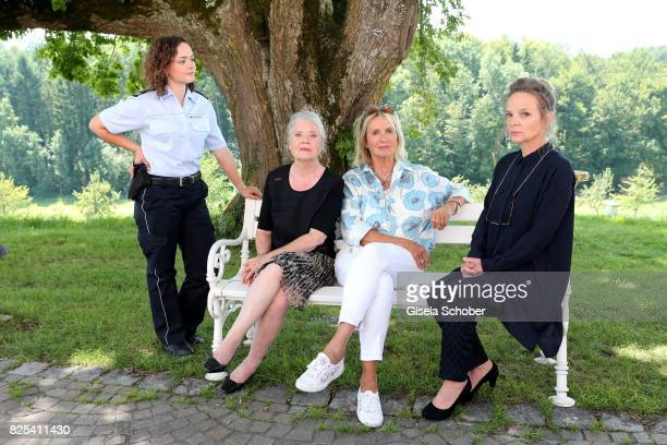Wendy Guentensperger, Cordula Trantow, Diana Koerner and Sissy Hoefferer during the 'WaPo Bodensee' photo call at Schloss Freudental on August 1,...