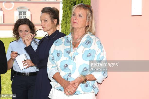 Wendy Guentensperger, Sissy Hoefferer and Diana Koerner during the 'WaPo Bodensee' photo call at Schloss Freudental on August 1, 2017 in...