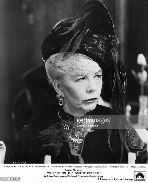 Wendy Hiller in a scene from the film 'Murder On The Orient Express' 1974
