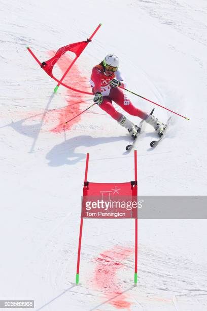 Wendy Holdener of Switzerland competes during the Alpine Team Event Big Final on day 15 of the PyeongChang 2018 Winter Olympic Games at Yongpyong...
