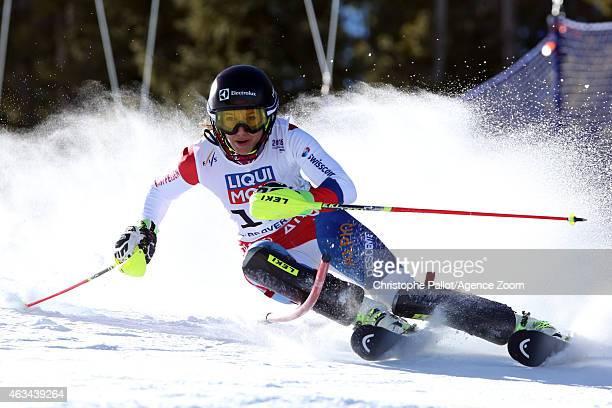 Wendy Holdener of Switzerland competes during the FIS Alpine World Ski Championships Women's Slalom on February 14 2015 in Beaver Creek Colorado