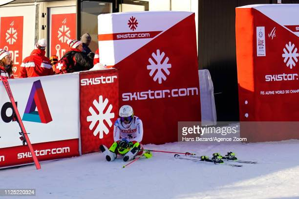 Wendy Holdener of Switzerland competes during the FIS World Ski Championships Women's Slalom on February 16 2019 in Are Sweden