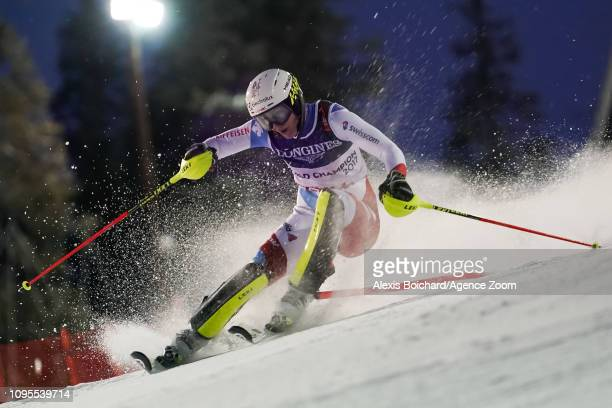 Wendy Holdener of Switzerland competes during the FIS World Ski Championships Women's Alpine Combined on February 8 2019 in Are Sweden