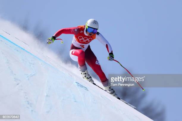 Wendy Holdener of Switzerland competes during the Ladies' Alpine Combined on day thirteen of the PyeongChang 2018 Winter Olympic Games at Yongpyong...
