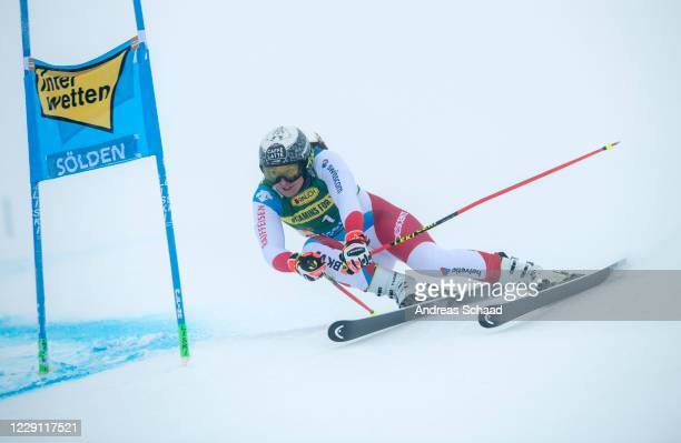 Wendy Holdener of Switzerland competes during the Women's Giant Slalom of the Audi FIS Alpine Ski World Cup on October 17, 2020 in Soelden, Austria.