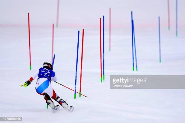 Wendy Holdener of Switzerland during the second run Audi FIS Alpine Ski World Cup Women's Slalom December 29 2018 in Semmering Austria