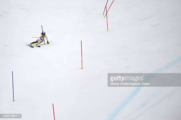 Wendy Holdener of Switzerland in action during the Audi FIS Alpine Ski World Cup Women's Alpine Combined on February 23, 2020 in Crans Montana...