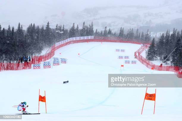 Wendy Holdener of Switzerland in action during the FIS World Ski Championships Women's Alpine Combined on February 8 2019 in Are Sweden