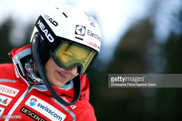Wendy Holdener of Switzerland inspects the course during the Audi FIS Alpine Ski World Cup Women's Slalom on December 29 2018 in Semmering Austria