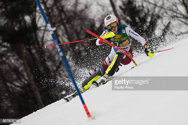 Wendy Holdener of Switzerland on the course during the Slalom race at the Golden Fox