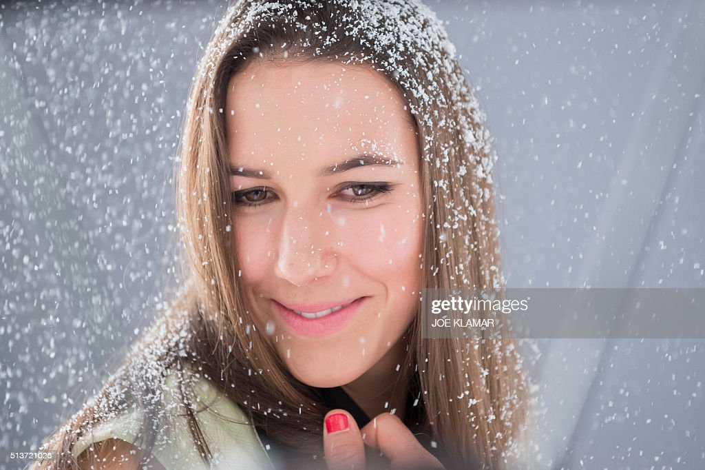 Wendy Holdener of Switzerland poses during a fashion shoot ...