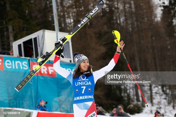 Wendy Holdener of Switzerland takes 3rd place during the Audi FIS Alpine Ski World Cup Women's Slalom on December 29 2018 in Semmering Austria