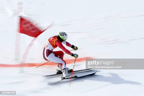 Wendy Holdener of Switzerland wins the gold medal during the Alpine Skiing National Team Event at Yongpyong Alpine Centre on February 24 2018 in...