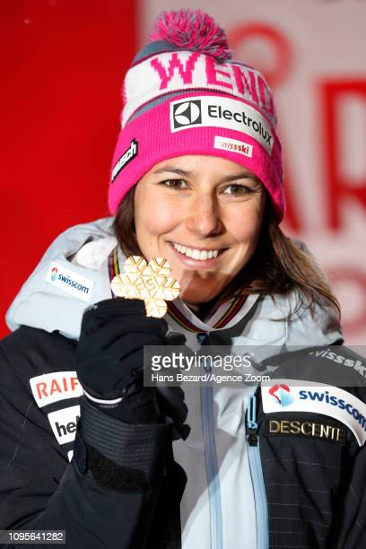 Wendy Holdener of Switzerland wins the gold medal during the FIS World Ski Championships Women's Alpine Combined on February 8 2019 in Are Sweden