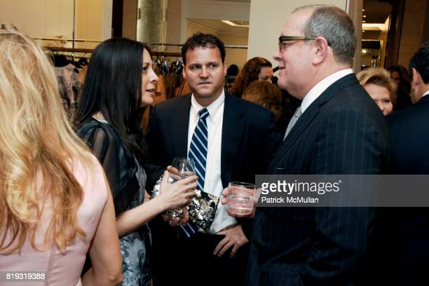 Wendy Kahn Jon Kahn and Ron Frasch attend SAKS FIFTH AVENUE VALENTINO Host a Dinner to benefit SAVE VENICE at Saks Fifth Avenue on April 14 2010 in...