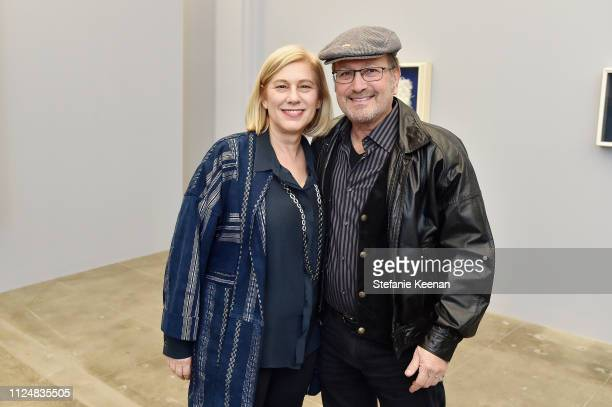 Wendy Kaplan and Dave Destler attend Hauser Wirth Los Angeles Opening of Annie Leibovitz and Piero Manzoni and Musical Performance by Patti Smith at...