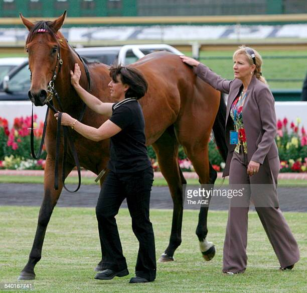Wendy Kelly, trainer of Tango Amigos, who won Race 1 at Sandown Hillside with jockey Vlad Duric on board. 25th November, 2006. THE AGE SPORT Picture...