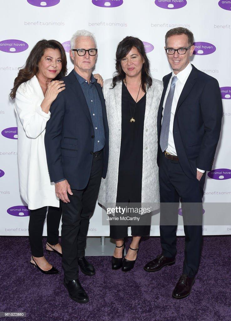 Wendy Kelman Neu, John Slattery, Jackie Kelman Bisbee and Sam Bisbee attend the Animal Haven Gala 2018 at Tribeca 360 on May 22, 2018 in New York City.
