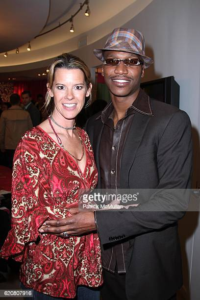 Wendy Knight and Hamani Moore attend TRACY REESE Secret Garden Party at Tracy Reese Boutique on March 27 2008 in New York City