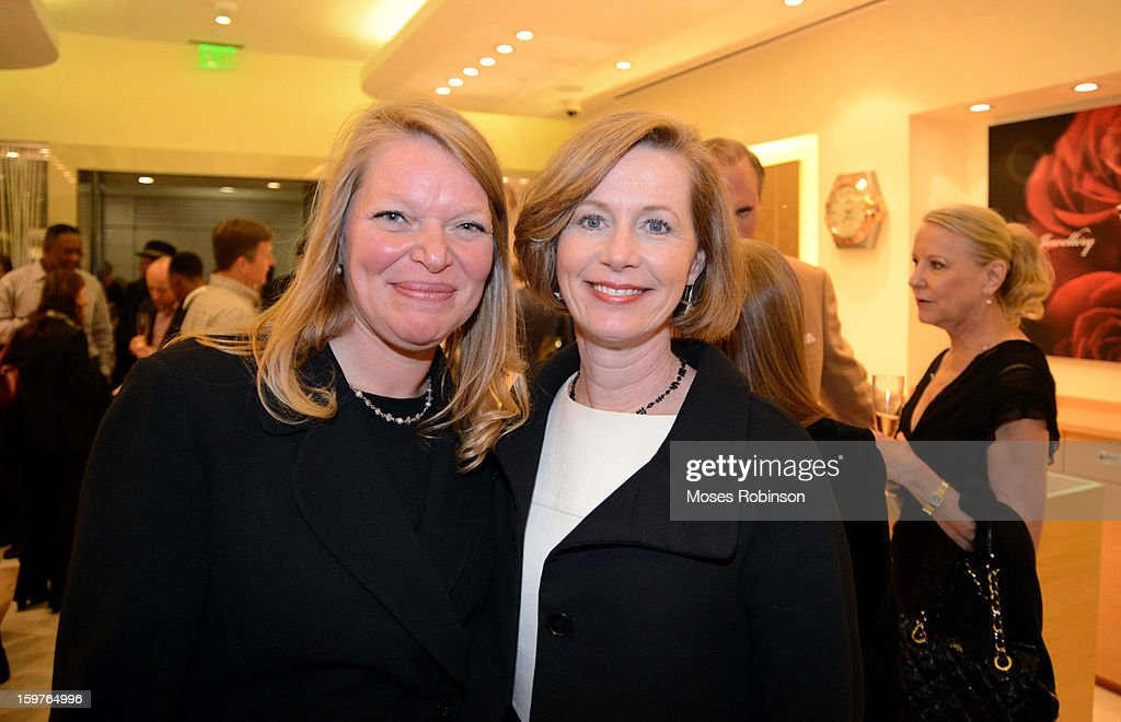 Wendy Koop and Kelly Cannon attend the OMEGA boutique opening at Phipps Plaza on January 17, 2013 in Atlanta, Georgia.