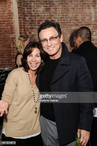 Wendy Kurtzman and Randall Hayworth attend The Rema Hort Mann Foundation LA Artist Initiative Benefit Auction on November 21 2013 in Los Angeles...
