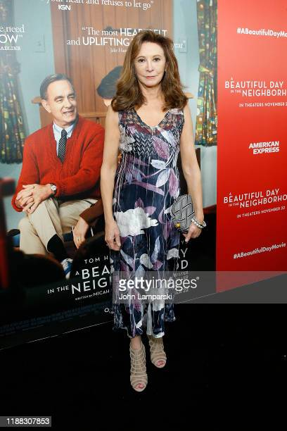 Wendy Makkena attends A Beautiful Day In The Neighborhood New York screening at Henry R Luce Auditorium at Brookfield Place on November 17 2019 in...