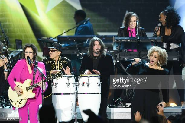 Wendy Melvoin and Dave Grohl perform onstage during the 62nd Annual GRAMMY Awards Let's Go Crazy The GRAMMY Salute To Prince on January 28 2020 in...