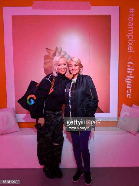 Wendy Mini City and Sherille Samson attend the #TEAMPIXEL x GIRLGAZE launch event hosted by Google and Amanda De Cadenet on November 15 2017 in Los...