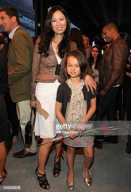 Wendy Murdoch and daughter Grace Murdoch attend the Edun Spring 2011 fashion show during MercedesBenz Fashion Week at on September 11 2010 in New...