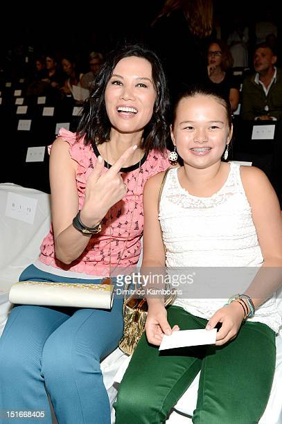 Wendy Murdoch and Grace Murdoch attend the Diane Von Furstenberg Spring 2013 fashion show during MercedesBenz Fashion Week at The Theatre at Lincoln...